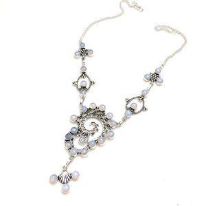 Jewelry - Bohemian Gypsy Style Opalite Necklace 925